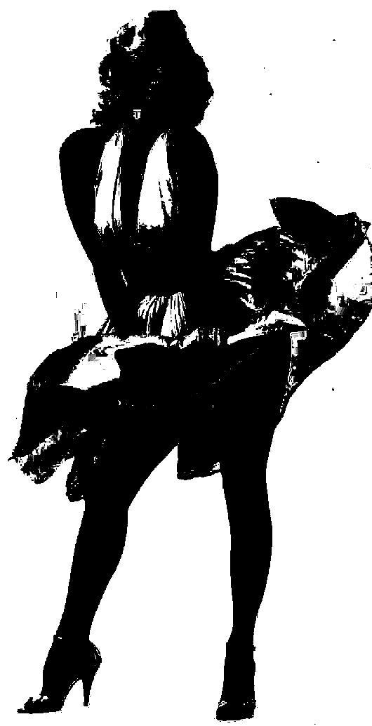 Marilyn Monroe Silhouette | Kathryn dresser | Pinterest ...