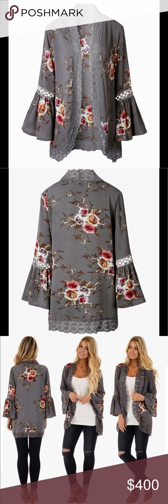 Floral open front cardigan Floral open front cardigan! Just ordered and will be delivered soon! Boutique floral cardigan. New! I will have size L & XL. Size details to come! Price will be $35 Smoke free and pet free home. Sweaters Cardigans