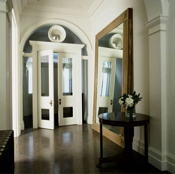 Large Mirror In Foyer : Stunning hallway i want french doors everywhere if