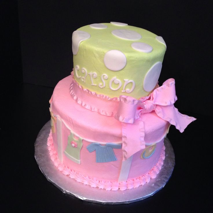 Baby Shower Cake With Baby Clothes