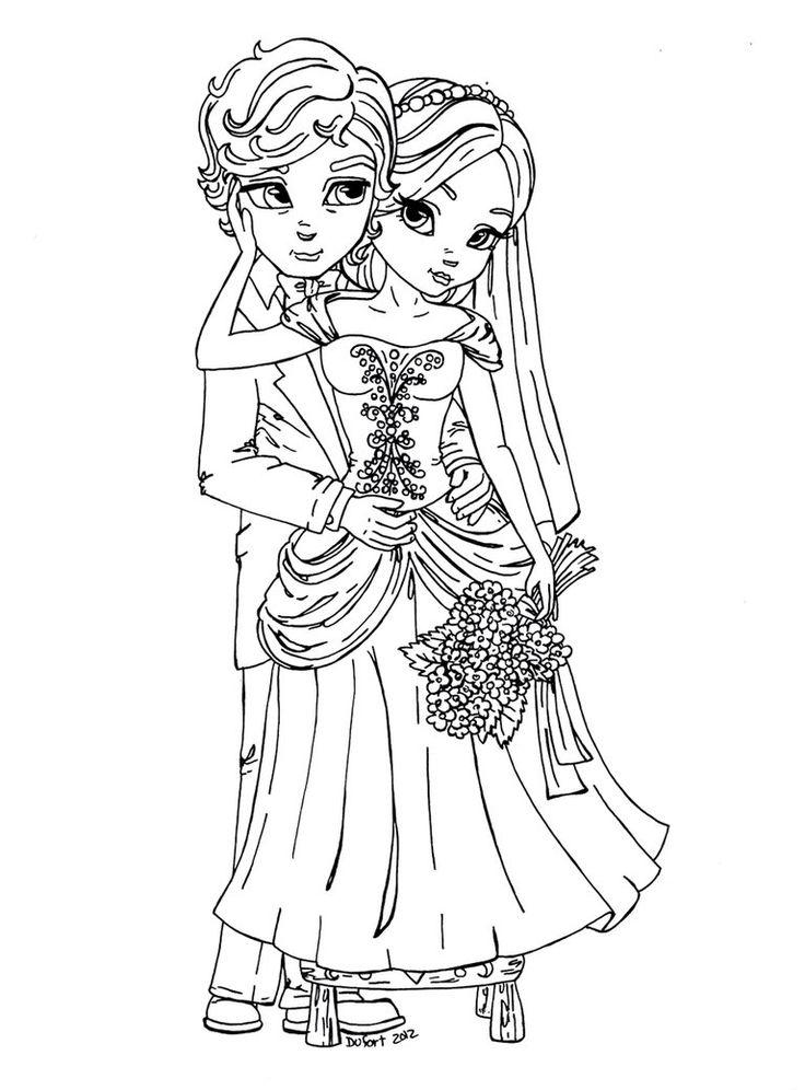 Bride 'n Groom by JadeDragonne on DeviantArt