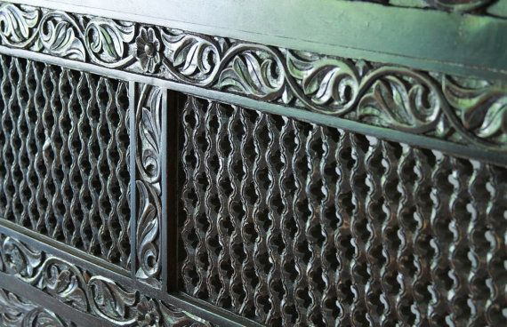 Spanish Style Carved Headboard with Dark by clearpathimports