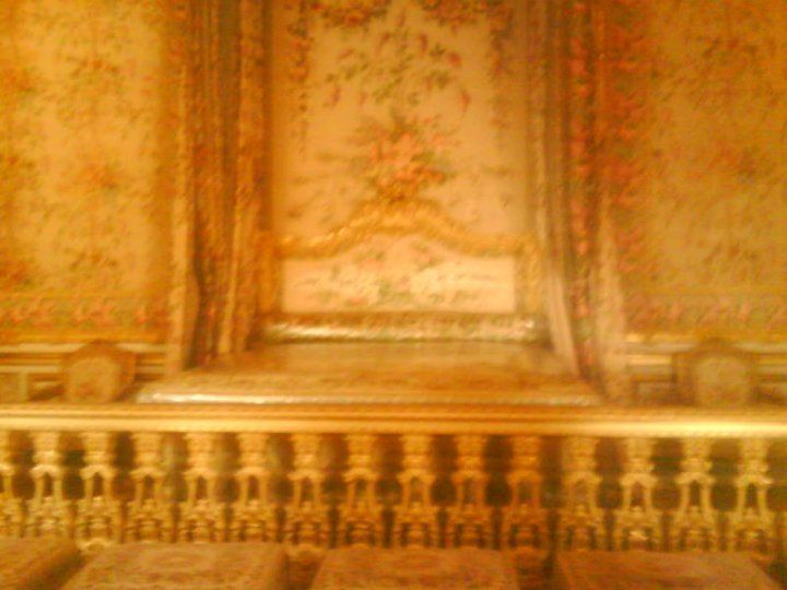 The Queen's bedroom. Where kings were born in front of a royal court.