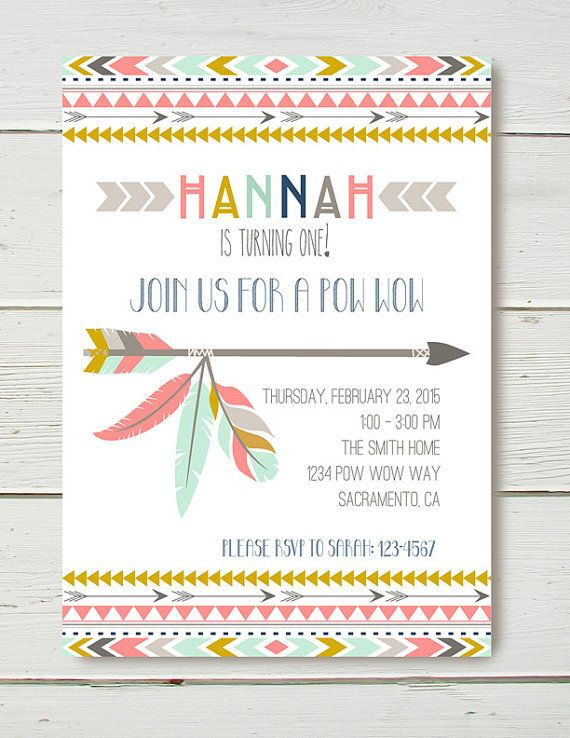 8 best Pow Wow 1st Birthday Theme images on Pinterest Birthday - birthday invitation email template