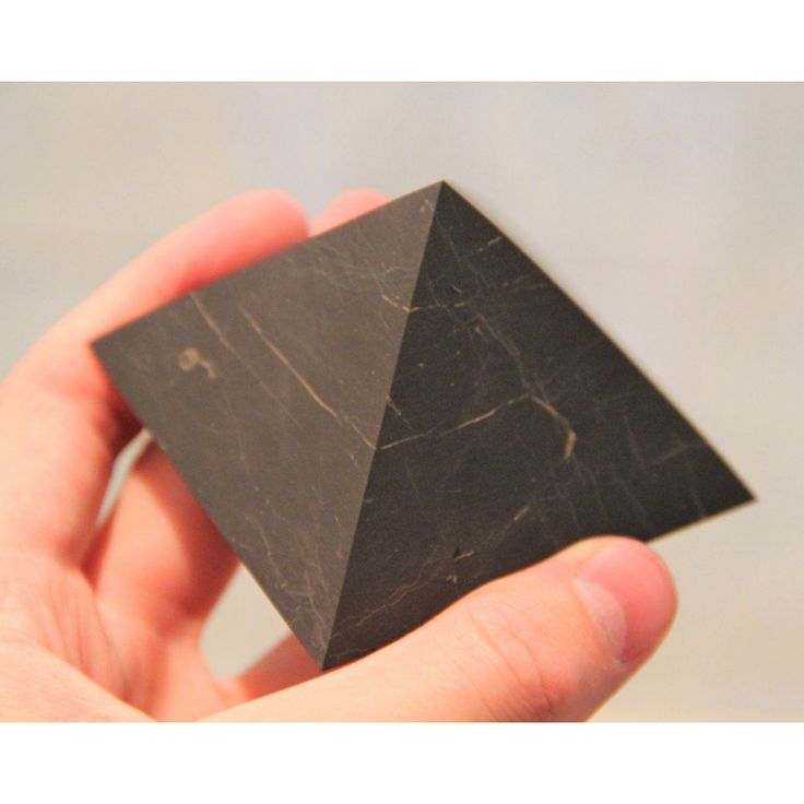 Buy original 40 mm Non-polished shungite pyramid with fast shipping $4.49