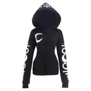 XUANCOOL Hoodies Women Gothic Punk Style Moon Letters Printed Long Sleeve Pullover Ladies Coat Witches Hat Sweatshirts Plus size 15