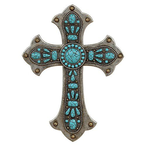 Turquoise Stone Southwestern Wall Cross  Southwestern Decor ** You can get additional details at the image link.