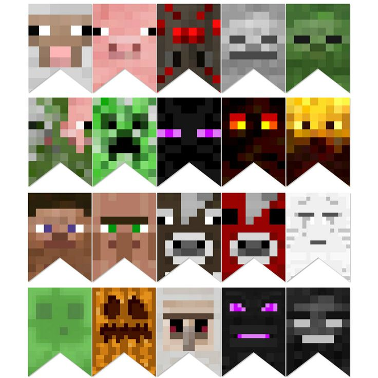 Instant Download 20 Mine Block Mobs Birthday by starprintables, $3.99