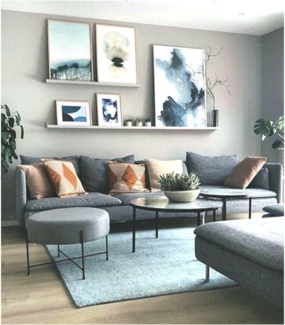 Modern Living Room Wall Art Grey Couch Scandinavian Design