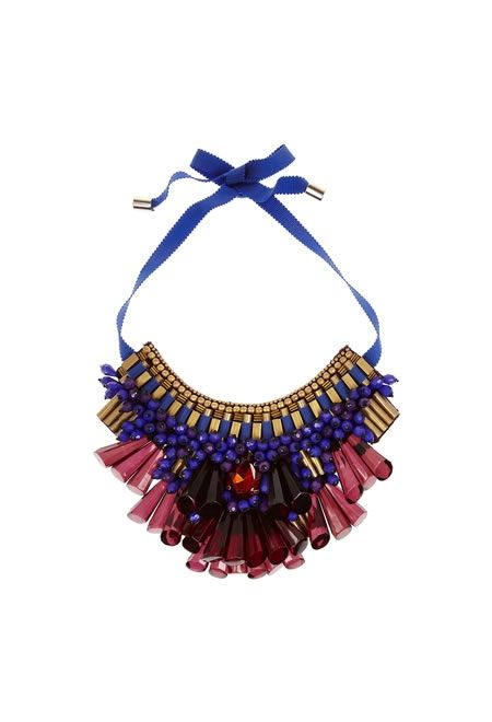 MATTHEW WILLIAMSON Beaded bib necklace £429.17 #MATTHEW #WILLIAMSON #NECKLACE