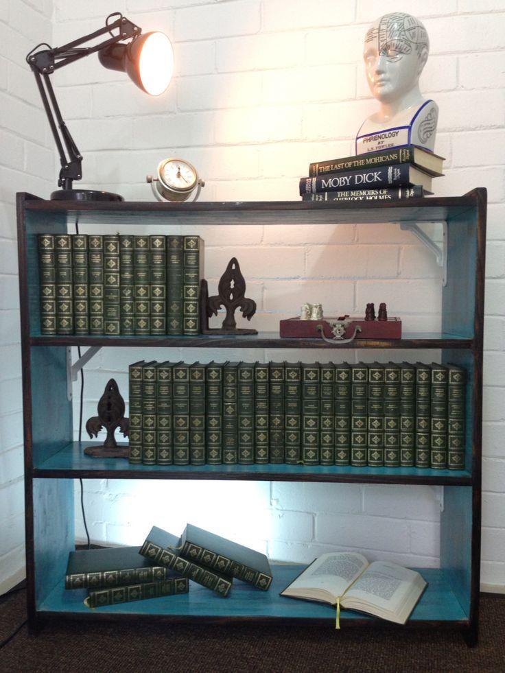 Restored timber bookshelf - https://www.facebook.com/RestoredbyGil