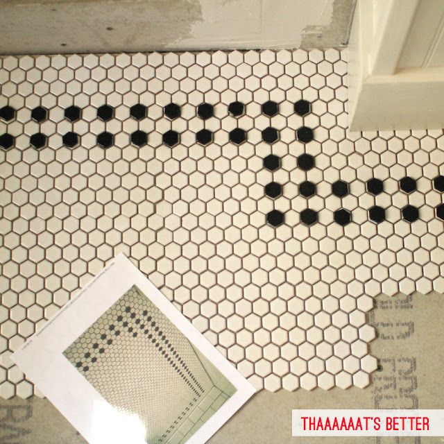 tile pattern for bathroom -craftsman home. I adore these little 6 sided tiles. Remind me of honeycomb.