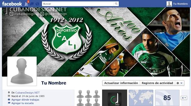 Portada para Facebook del Deportivo Cali 2012.
