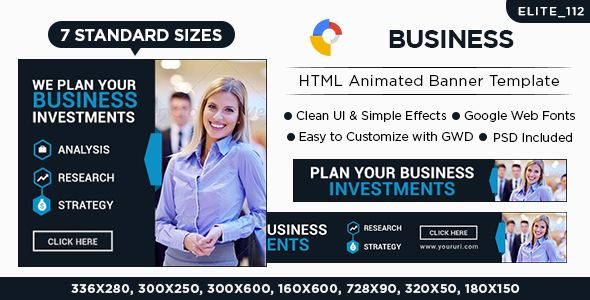 HTML5 Animated Ads Banners(Business)