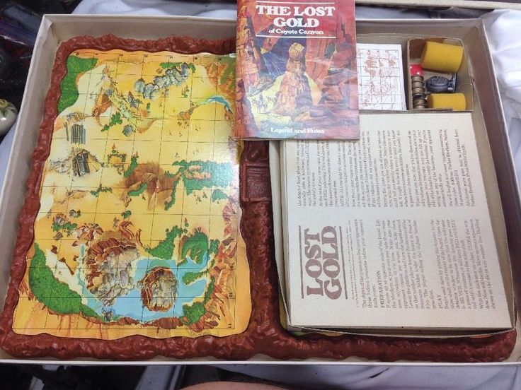 1970s Parker Brothers Lost Gold Hidden Treasure Game #ParkerBrothers
