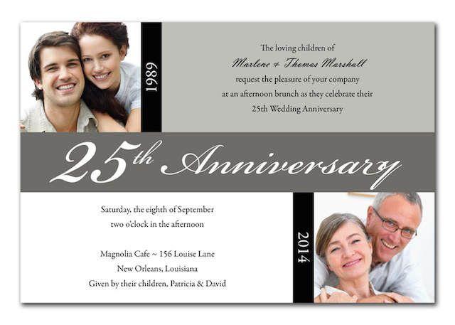 fiesta de bodas de plata invitación ideas originales