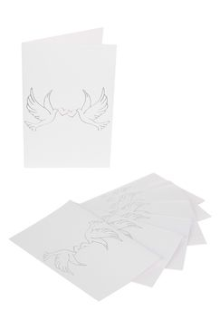 10 Cartes colombes blanches