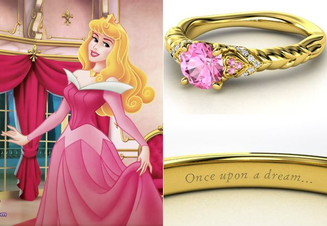 Disney Engagement Rings From Gemvara. The only one I would like to get as an engagement ring is Aurora's.