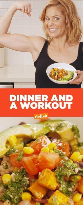 Here's how Candace Cameron Bure cooks dinner AND gets in a workout all in 30 minutes.