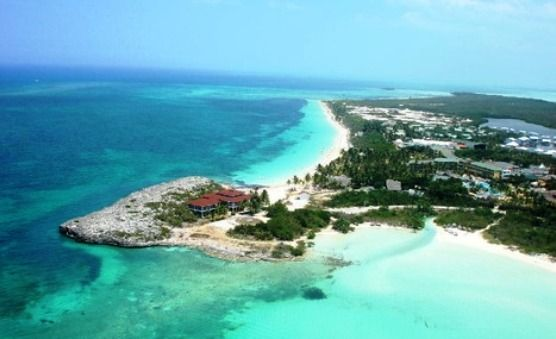 Aerial view of Cayo Coco and its great Cuba Beaches