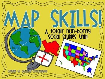 Map skills unit for 2nd and 3rd grade has activities for students to use the map skills taught in class. 74 pgs. $5.00 on TpT