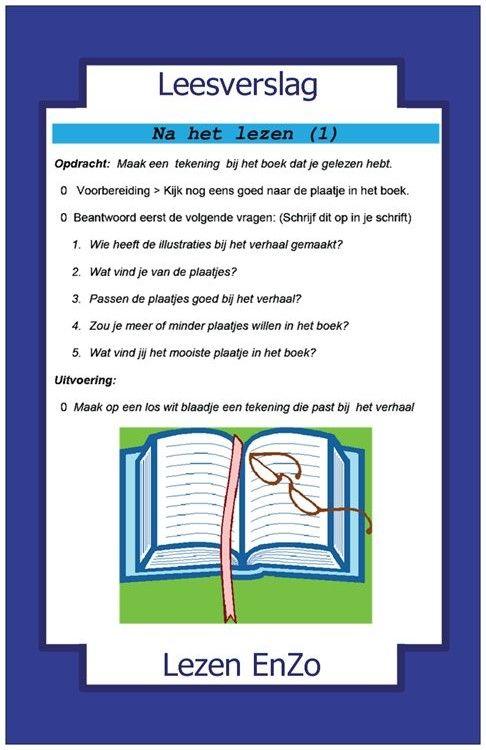 Leesverslag > na het lezen. Illustratie maken.