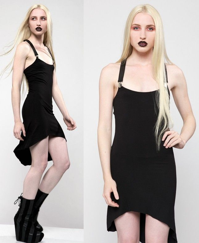 Lip Service // Lip Service Black Suspender Dress