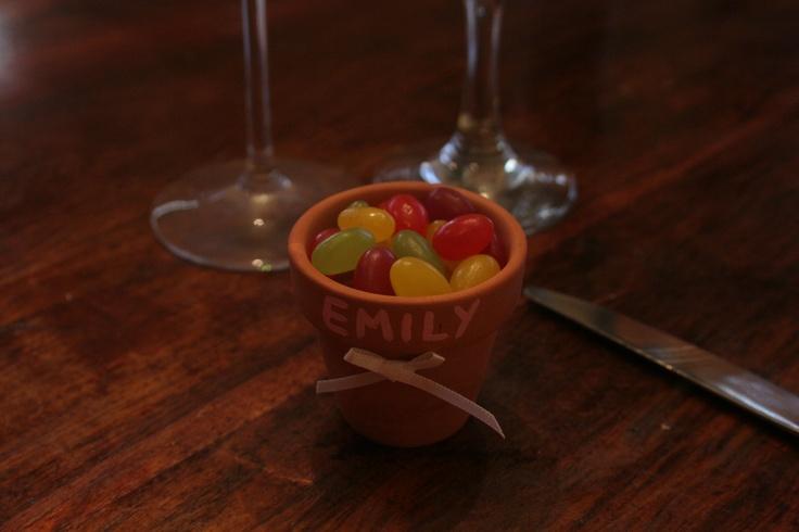 Wedding Favours - Mini terracotta pots