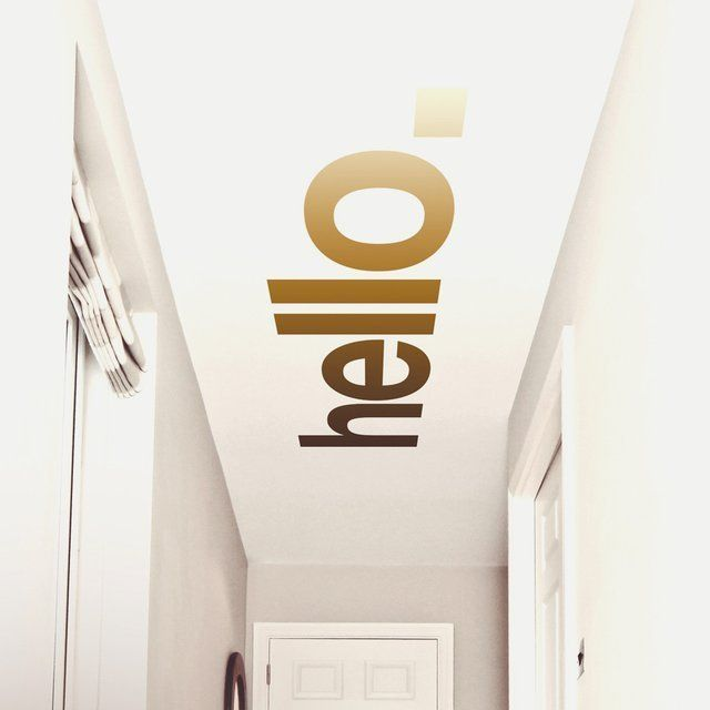 Hello Hallway Ceiling Sticker - Kerry Lyons Co.