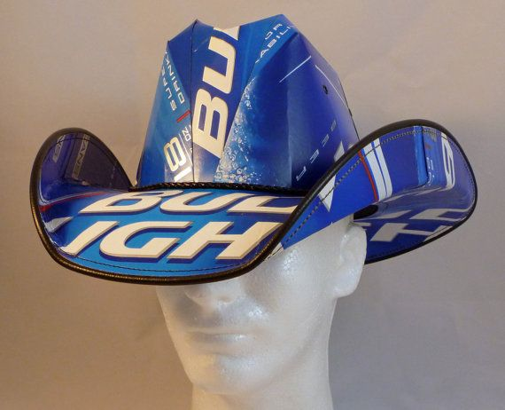 Beer Box Cowboy Hats. Made from recycled Bud Light beer boxes.  Beerhat. on Etsy, $29.99
