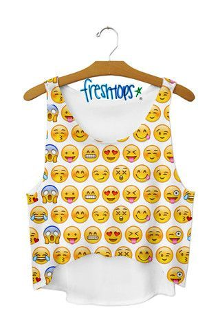 EmoSmiles Crop top - Fresh-tops.com || I don't wear crop tops, but I had to pin this cuz it's so dang cute!
