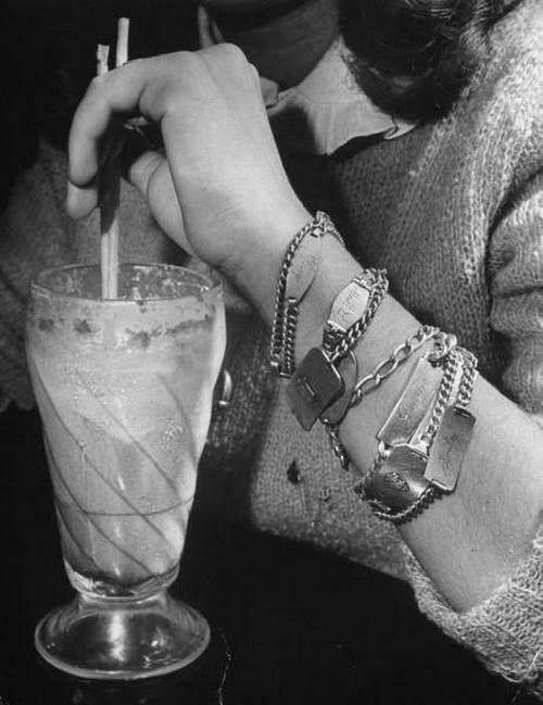 late 40s-early 50s - soda fountain & i.d. bracelets