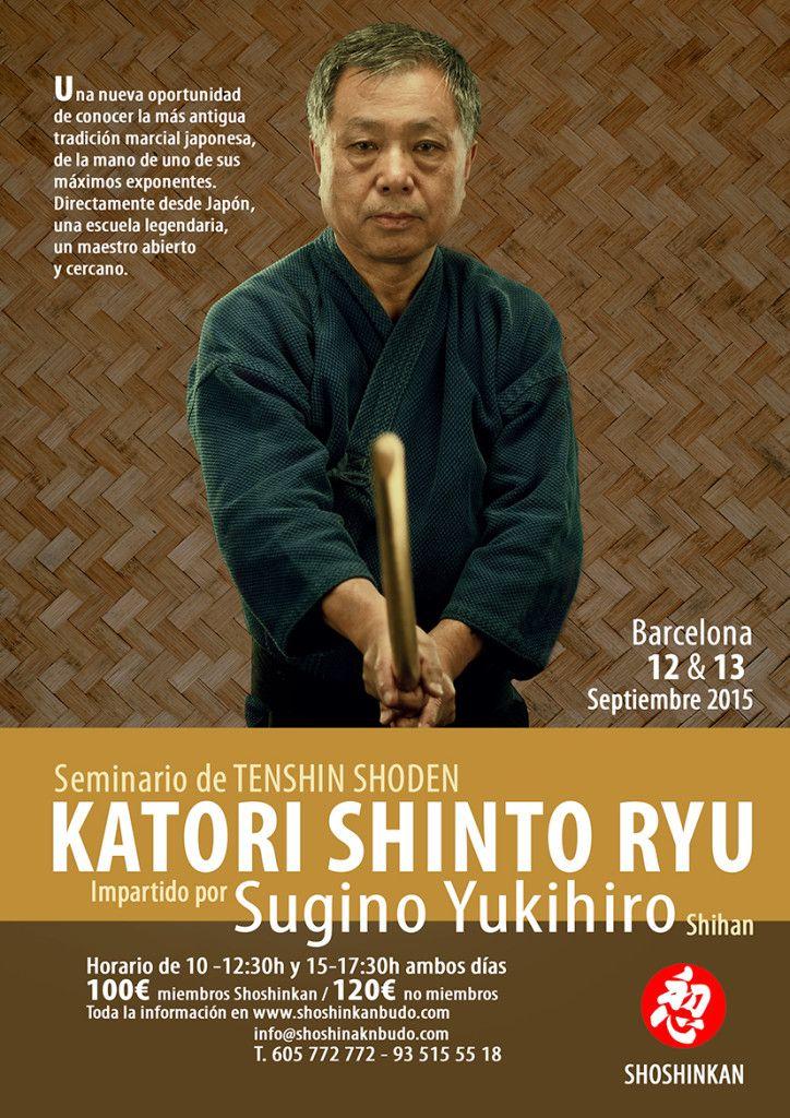 Seminario de Katori Shinto ryu, Sugino sensei en Barcelona