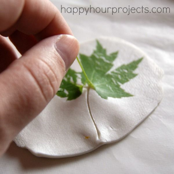 Leaf-Imprint Polymer Clay Pendant at happyhourprojects.com - dogwood flower bloom?