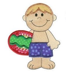 Beach Boy Applique - 4 Sizes! | Beach/Ocean | Machine Embroidery Designs | SWAKembroidery.com Designs by Juju