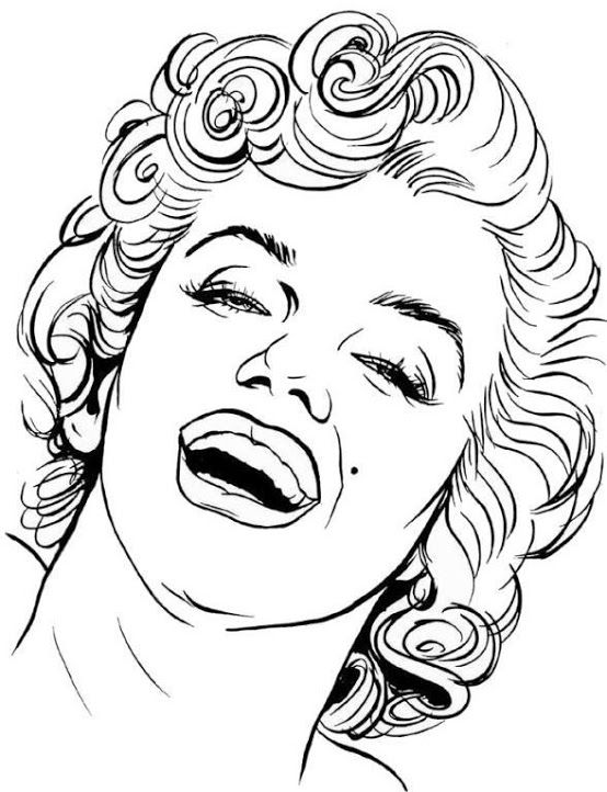 coloring pages marilyn monroe - photo#10