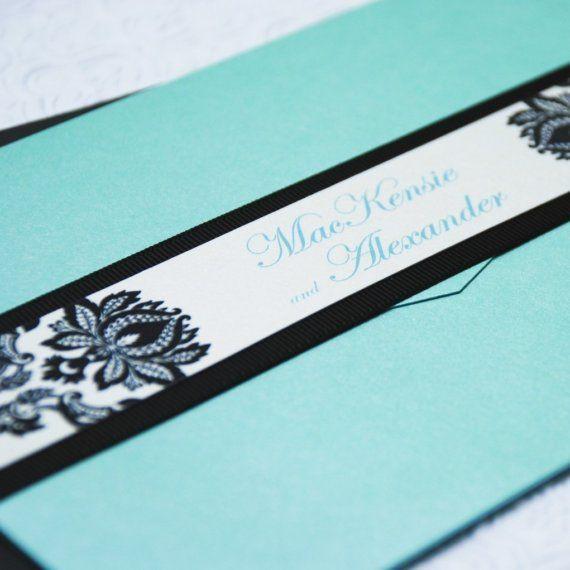 Tiffany blue invitation