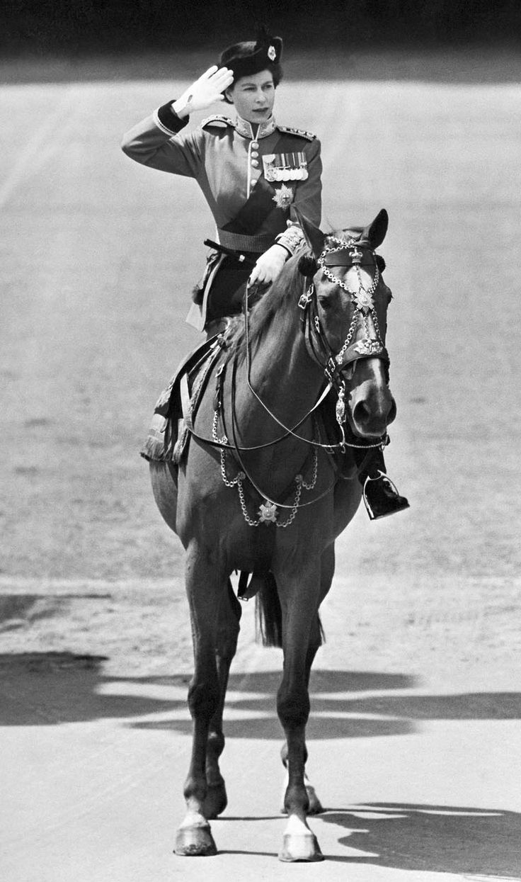 An undated file picture shows Britain's Queen Elizabeth II riding a horse in an unknown location