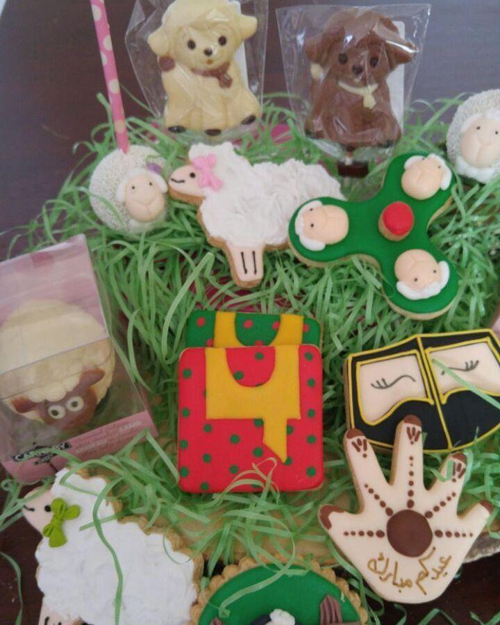 Eid cookies in Abu Dhabi UAE - sheep cookies - Eid Adha - Eid cakepops - Eid cake - uae cake