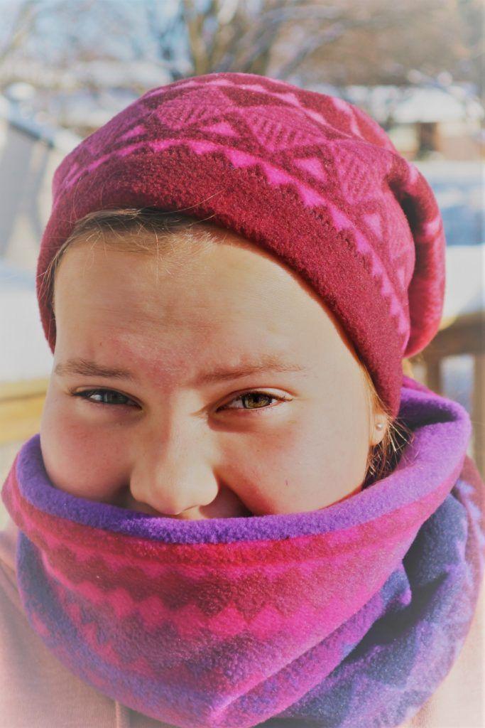 98cfcaf1b98 DIY Sew a Fleece Neck Warmer (Scarf Alternative) Snood At the school my  kids go