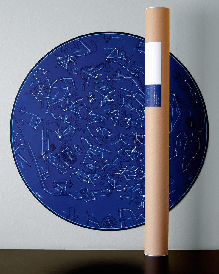 A Carta Celeste é um mapa interpretativo do céu nocturno, no qual estão representadas as constelações e principais estrelas observáveis do Hemisfério Norte, ao longo de todo o ano.