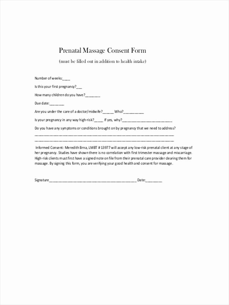Massage consent form template best of top 6 massage