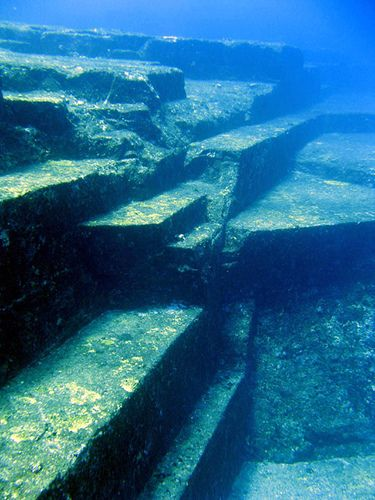 Underwater ruins of the lost world in Yonaguni. Believed to be at least 10,000 years old (older than the pyramids!)