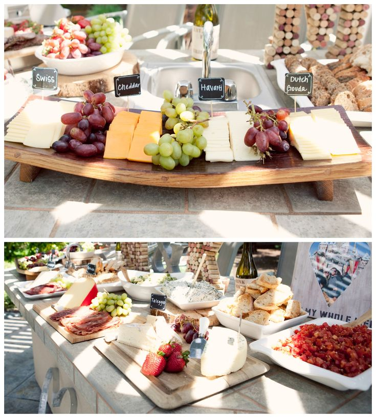 Cheese tray, wine and cheese bridal shower, cheese labels, stock the cellar bridal shower theme, rustic food buffet. Popular with the Poplins