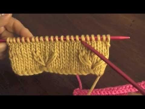Instrucciones del punto campo florido tejido en dos agujas o palillos