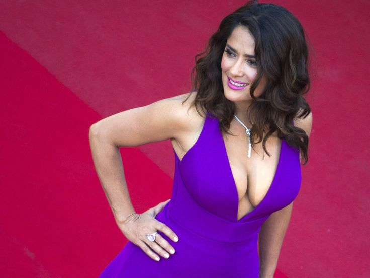 "Salma Hayek, who is Cannes with her film ""A Tale of Tales,"" attened the ""Carol"" premiere.  Yves Herman, AP"