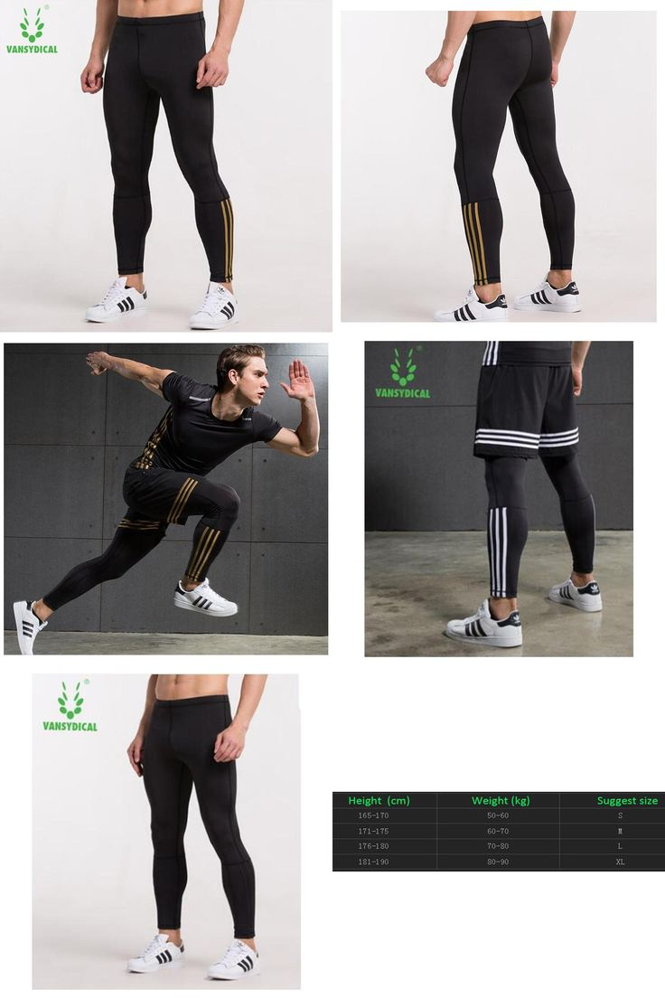[Visit to Buy] VANSYDICAL Running Tights Men Sports Leggings Sportswear Yoga Trousers Yoga Pants Fitness Compression Sexy Gym #Advertisement