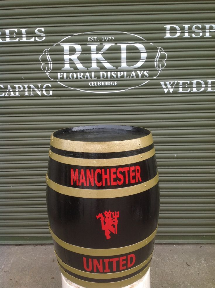 Manchester United Barrel Made By RKD Floral Displays