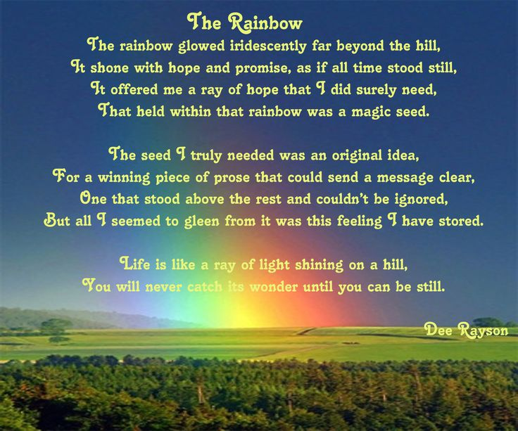 What does a rainbow mean to you?