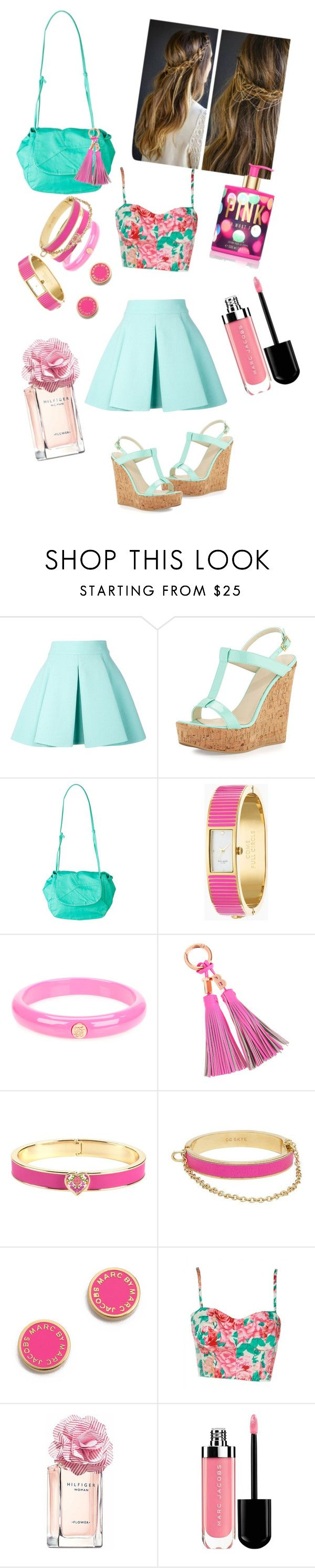 """Mint & Pink collection"" by samantha-radioactive ❤ liked on Polyvore featuring FAUSTO PUGLISI, Dee Keller, Billabong, Kate Spade, Ted Baker, Vera Bradley, CC SKYE, Marc by Marc Jacobs, Tommy Hilfiger and Victoria's Secret"